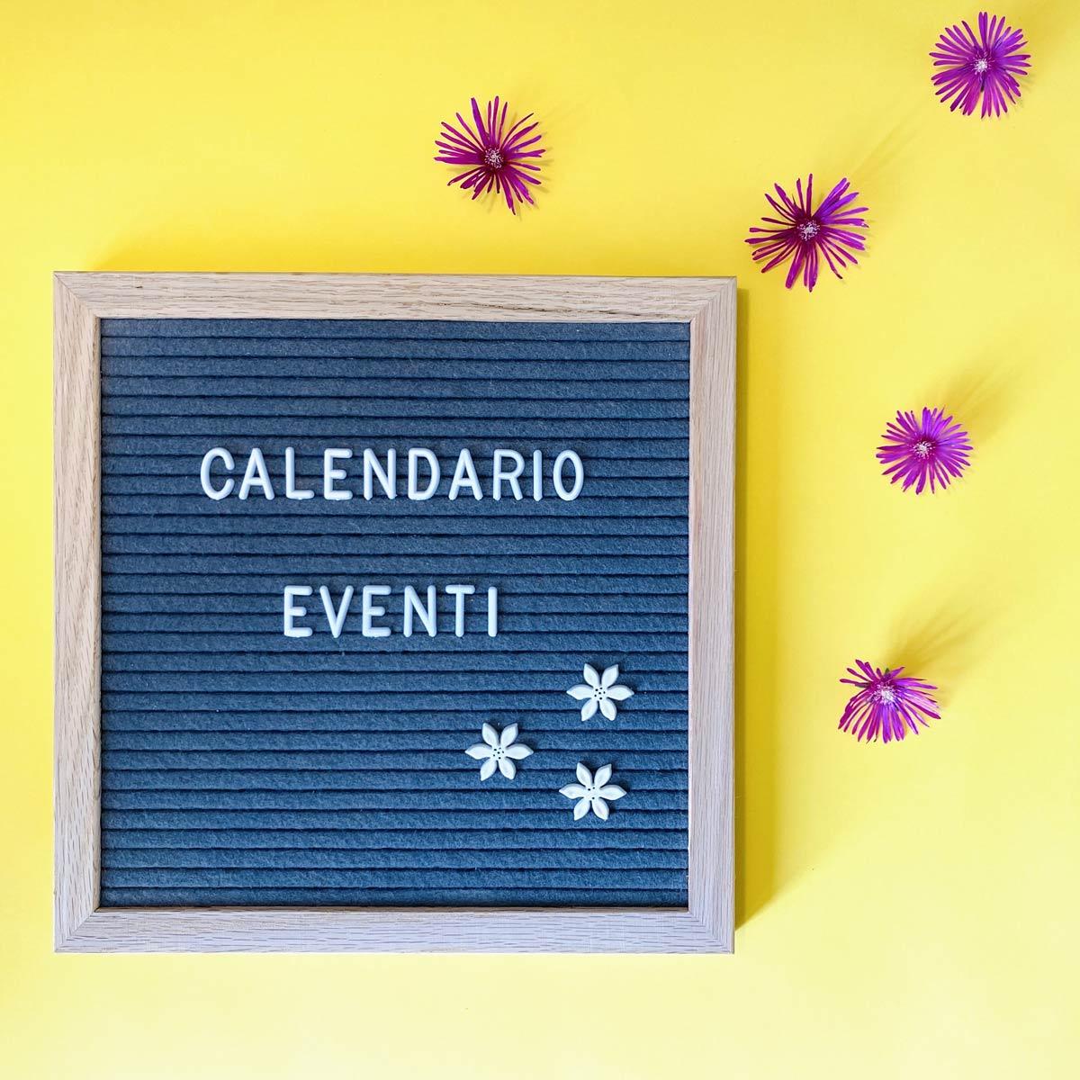 Calendario eventi Wanessa Shop